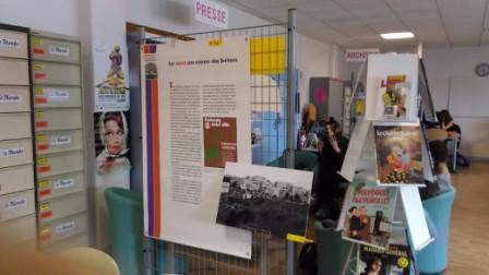 """Expo """"Fontenay à la verticale"""" au CDI"""