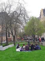 Pause dans le centre ville