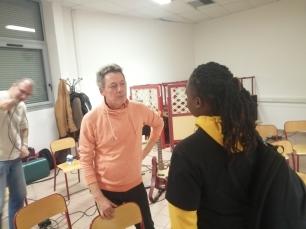 Hubert Dupont répond aux questions d'une élève